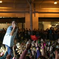 LANY jumps in the crowd during day 2 of the All Things Go Fall Classic by Doug van Sant
