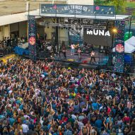 Muna takes the stage during day 1 of the All Things Go Fall Clasic by Doug van Sant